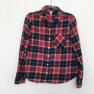 Forever 21 Plaid Button Down Cotton Shirt